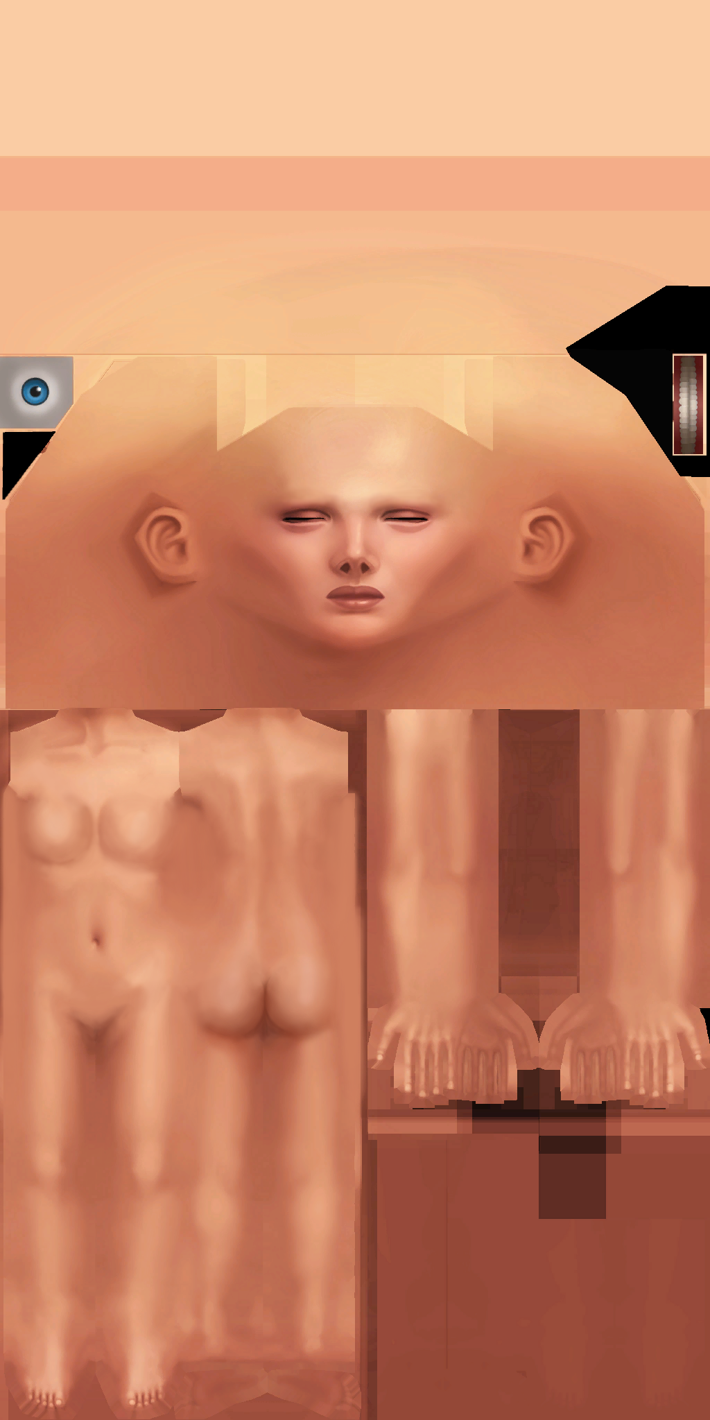 Edited sims 4 skin template female adult