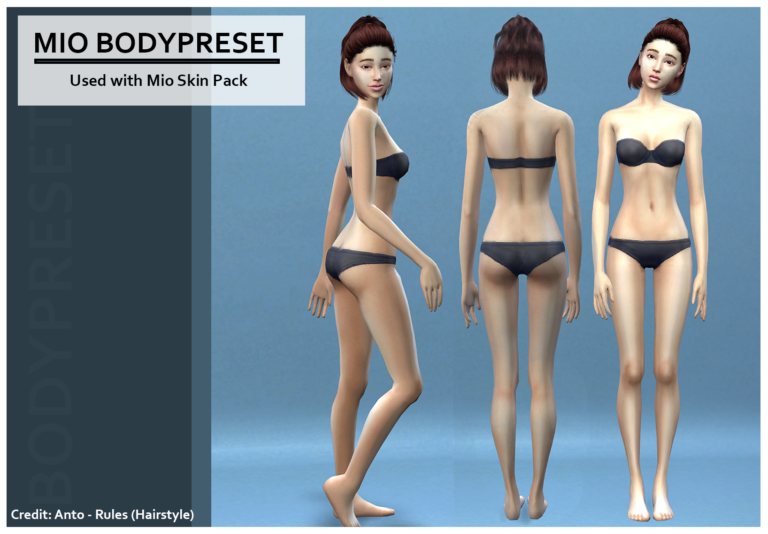 body preset sims 4 mio the sims 4 custom content cc