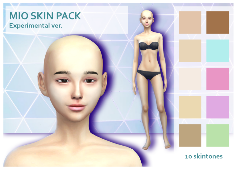 mio skin pack experimental sims 4 cc